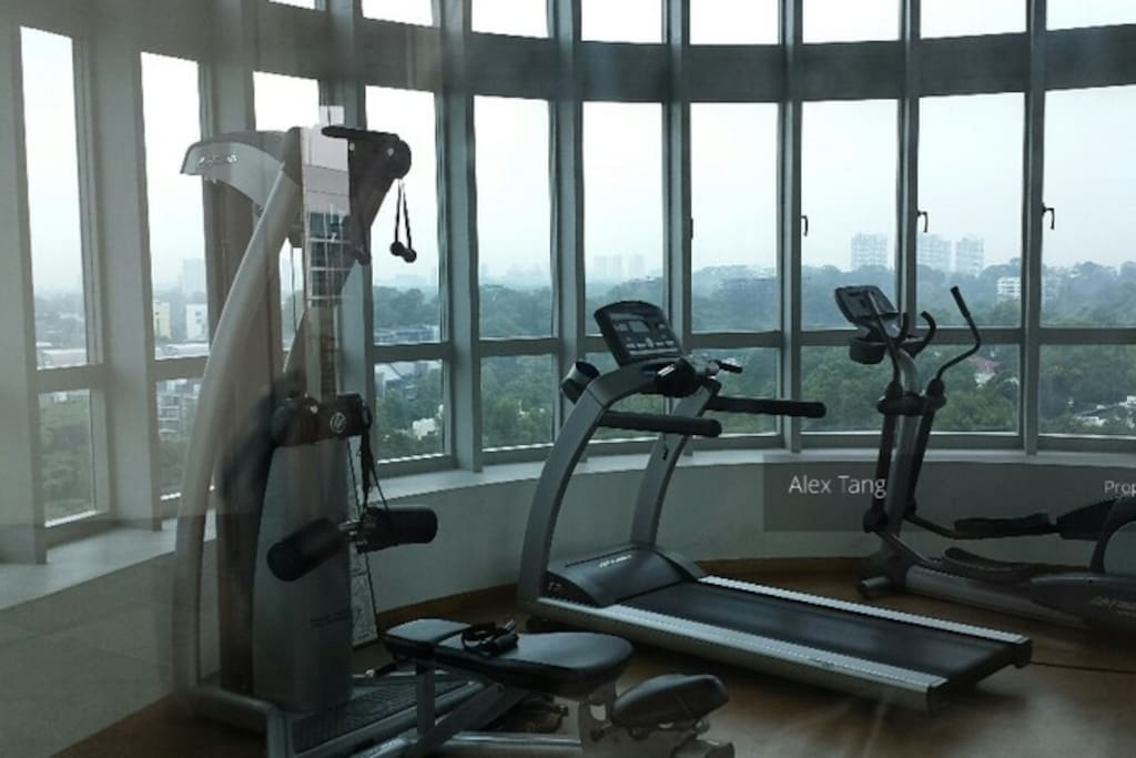 Access to a gym with a view!