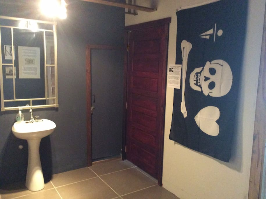 Part of Belize only Pirates Museum, hallways are decorated with Pirate artifacts
