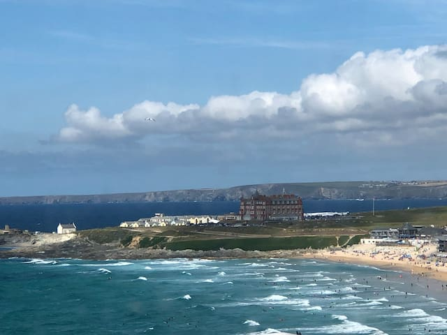 House overlooking Fistral Beach