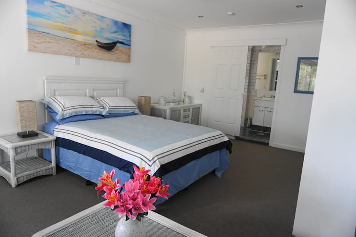 A huge beach feel room in a quiet acreage property