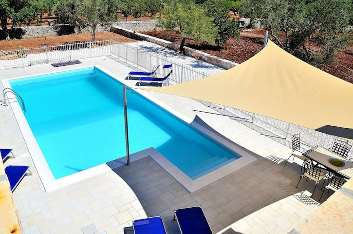 Modern trullo with AC and heated pool