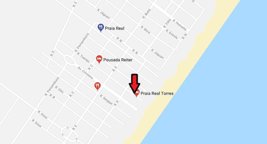Casa 50m do mar - Torres/Praia Real