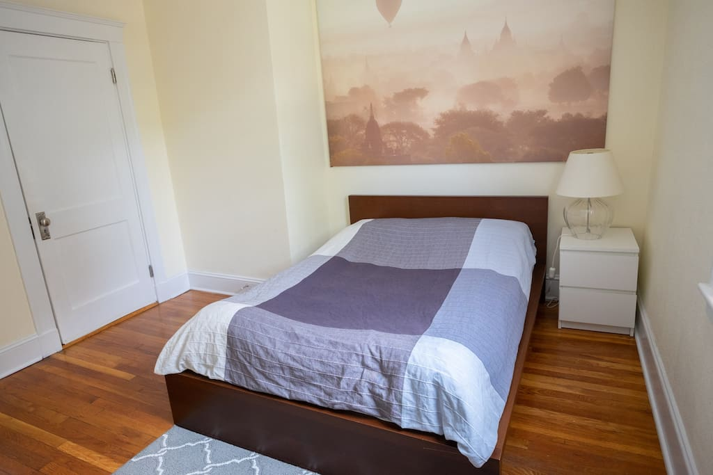 Comfortable full-size bed. Great for 1 person or 2! Fresh linens and towels.