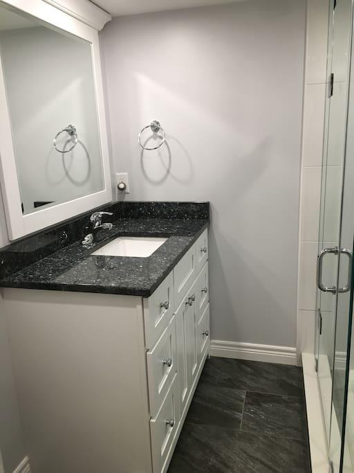 Newly renovated private bathroom.
