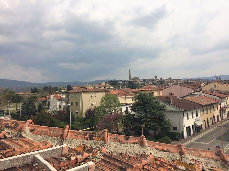 Vista panoramica della città di Arezzo dalla terrazza