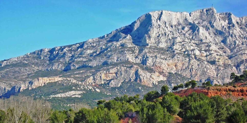 Au pied de la Sainte Victoire en Provence
