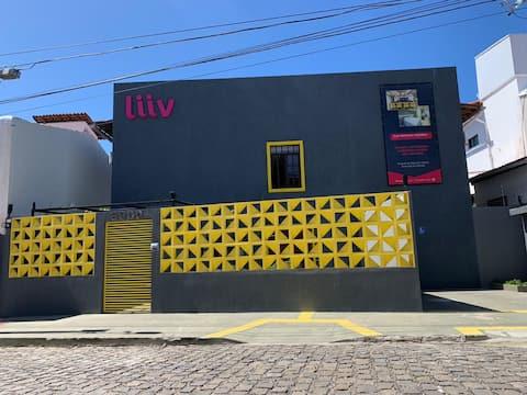 FLAT Cobogó LIIV com DESIGN moderno perto da PRAIA