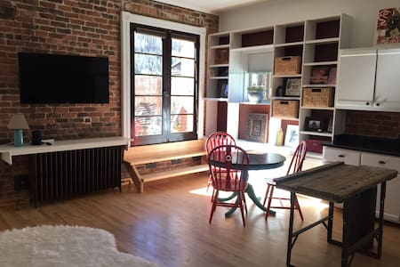 Historic Main Street downtown apartment