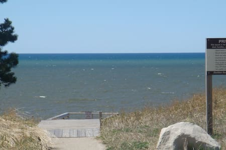 Lakeview Beach is a 1/2 mile away from Lake Michigan!