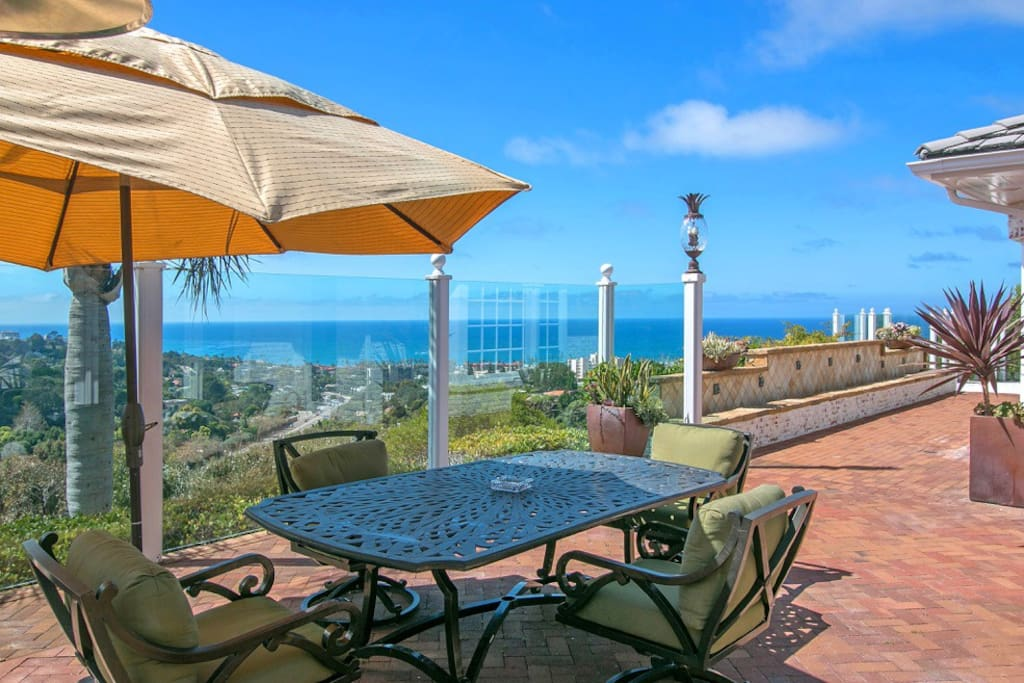 Have you breakfast alfresco while enjoying the views from the patio.