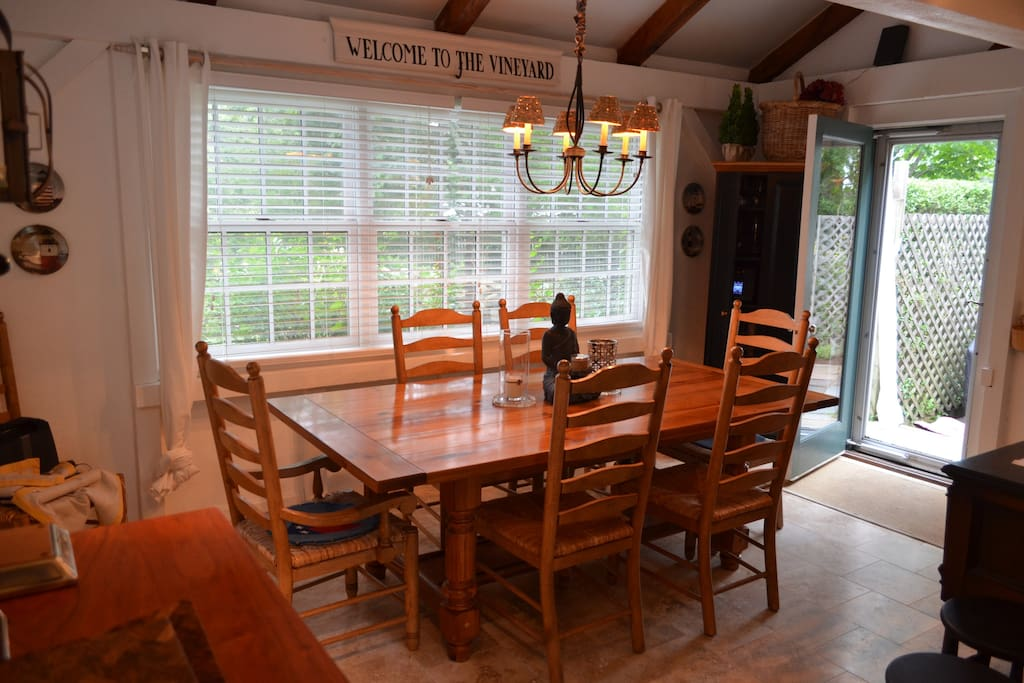 dining room -walk out to patio -open to kitchen