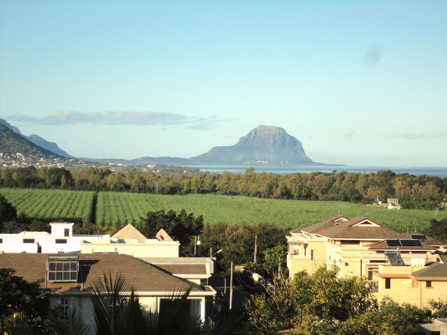 Roof top View on west coast till south west Le Morne Brabant tip