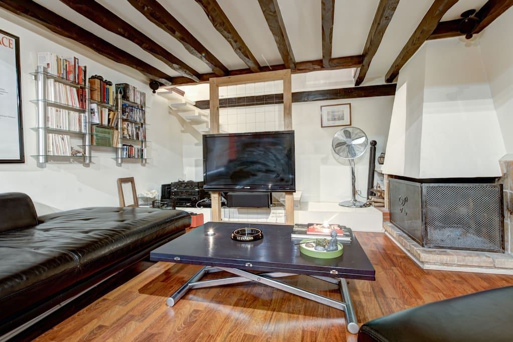 Loft quartier latin 40m panth on appartements louer for Achat appartement atypique ile de france