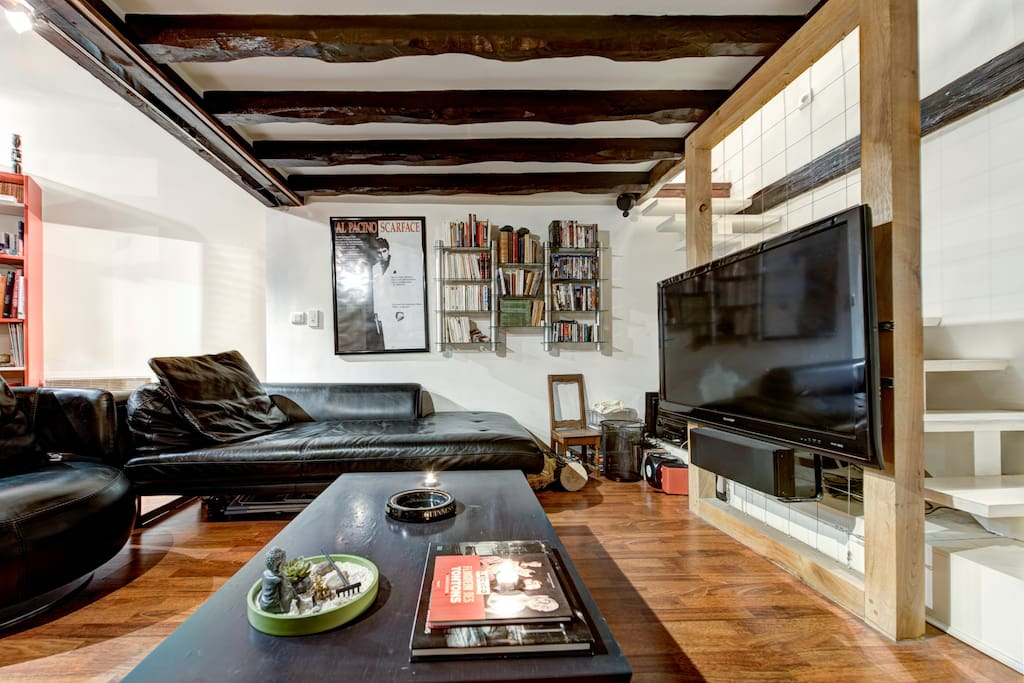 Loft quartier latin 40m panth on appartements louer paris le de fr - Achat loft ile de france ...