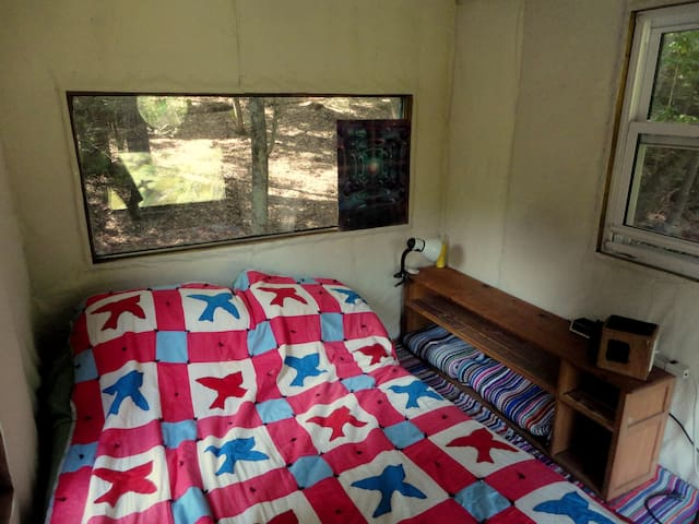 double futon bed upstairs