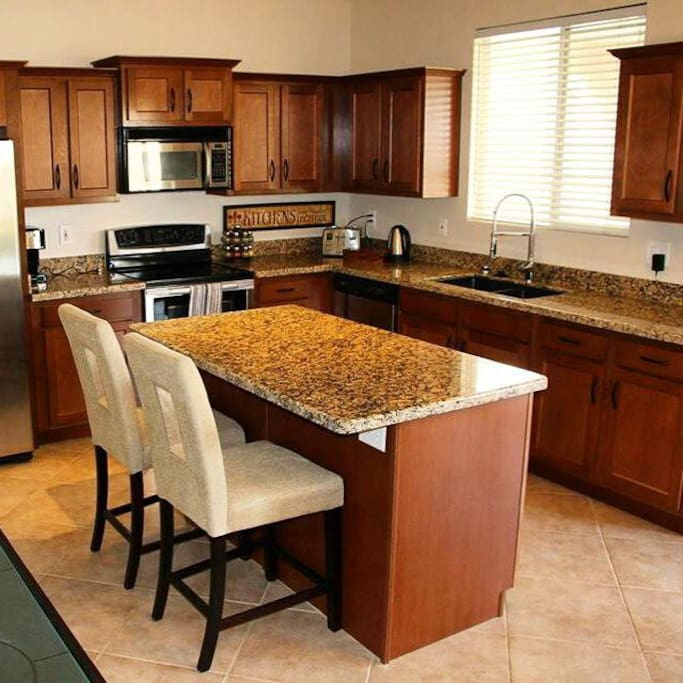 Brand new kitchen with granite