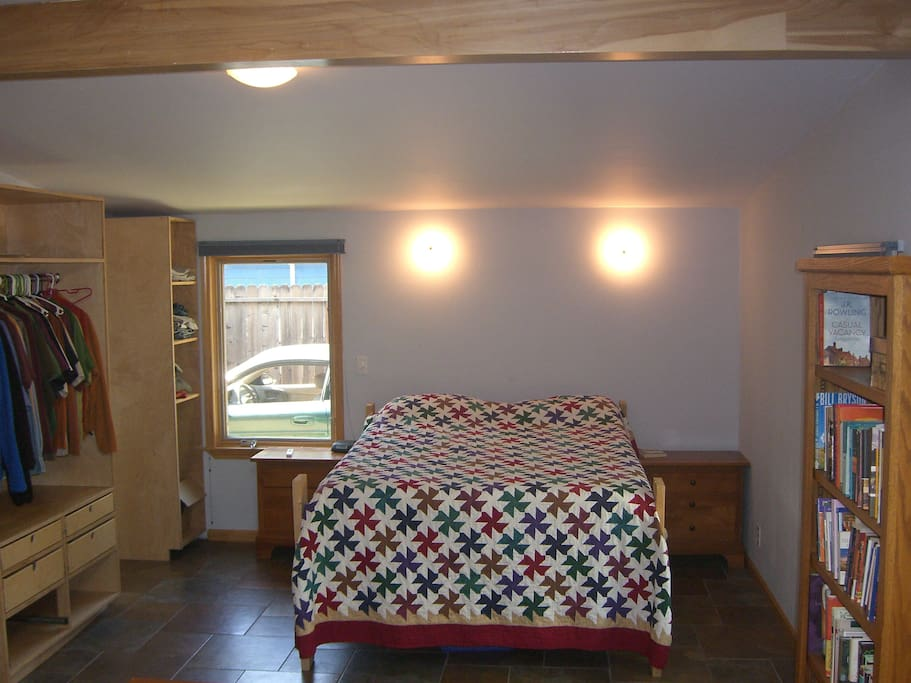 Very Large Master Bedroom with private bathroom and gym area