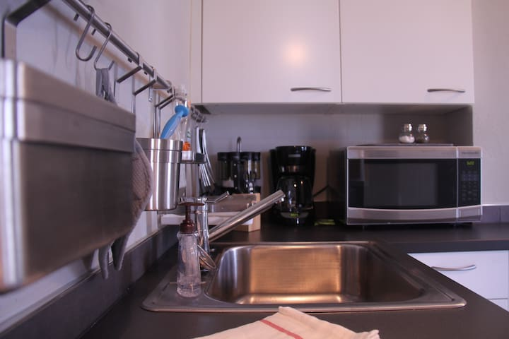 Newly Renovated Kitchen with Stainless Steel Appliances.