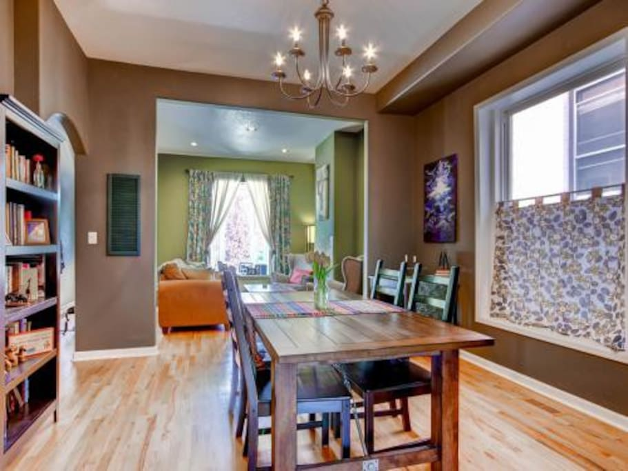 open dining room and living room