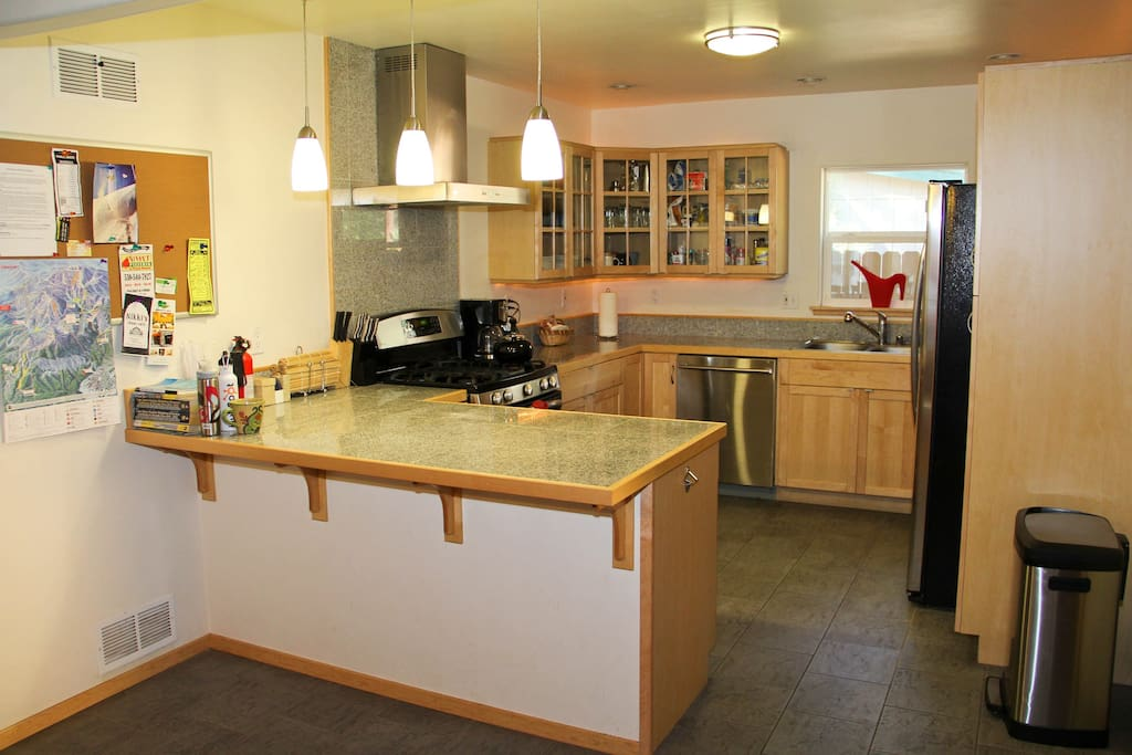 Cook up a storm in the newly remodeled gourmet kitchen!