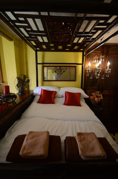 Chinese double bed