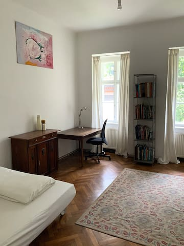 Pleasant large room with garden close 1st district