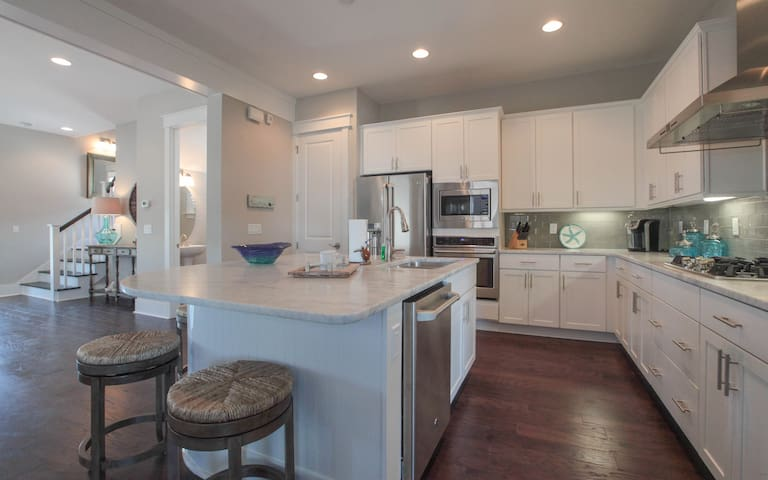 kitchen with stainless steal appliances