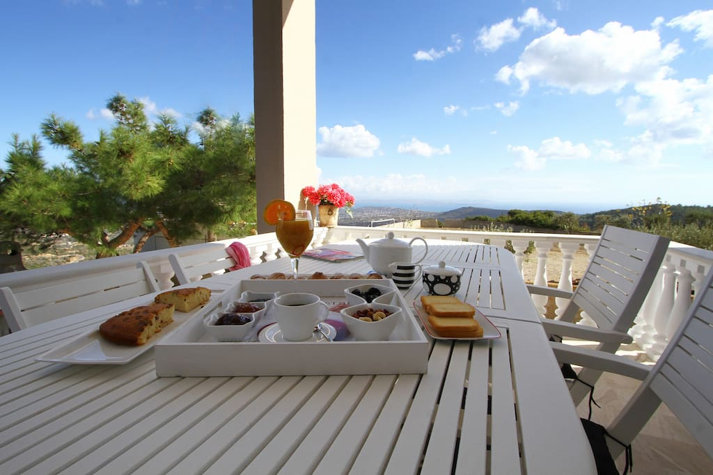 Breathless view and tranquility from the spacious balcony.