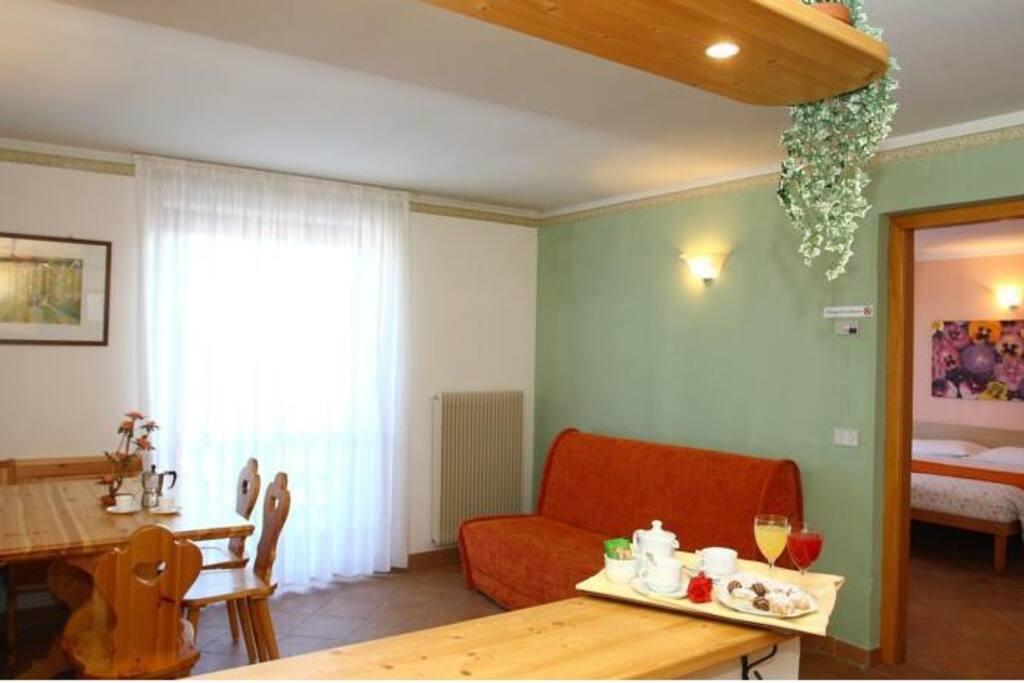 camera fino a 6 posti con cucina privata