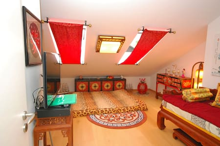 Romantic chinese room private WC & Free parkinglot - Ottobrunn