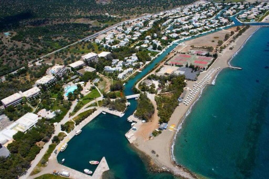 Aerial View of Porto Hydra Village