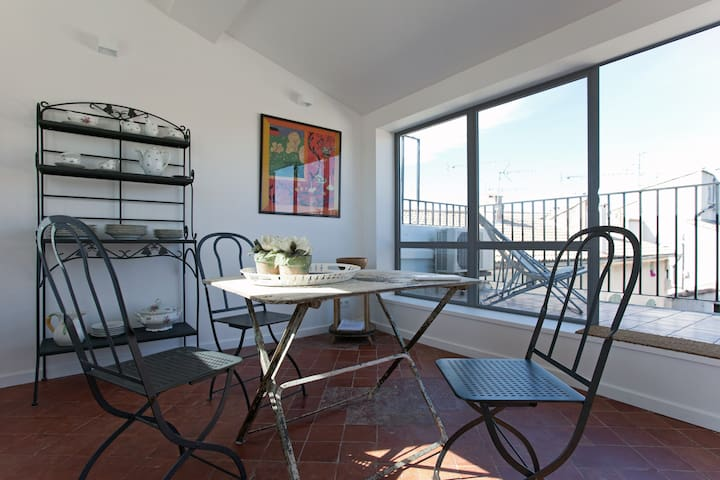 """""""Maison Saint-Césaire""""  Terrasse vue sur les toits"""