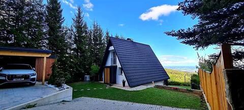 Widok panoramiczny Domek - Sauna - Wanna z hydromasażem