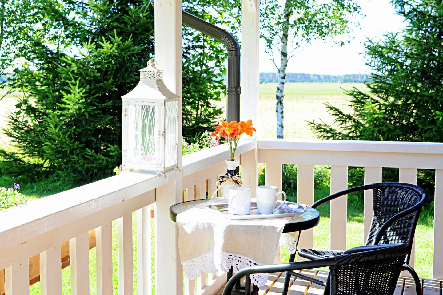 Morning coffee on your private terrace