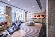 Reception on 9th floor