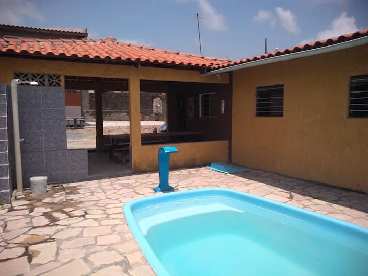 Casa rustica em Jacumã com piscina perto da praia