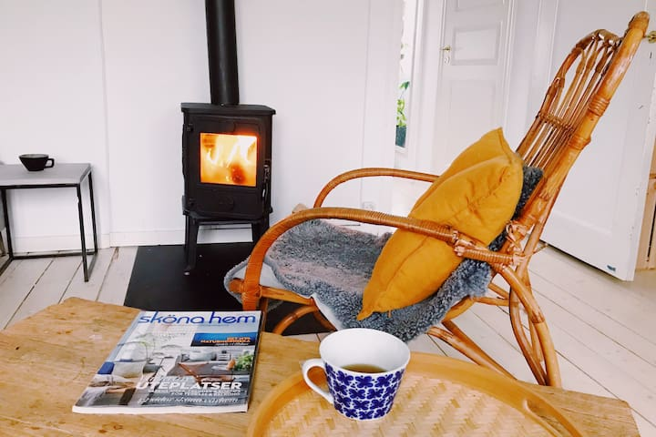 Enjoy a cup of tea and your fireplace.