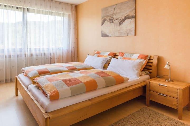 Ferienwohnung Lux, (Plettenberg), Ferienwohnung Lux mit Garten, 90qm, 2 Schlafzimmer, max. 4 Personen