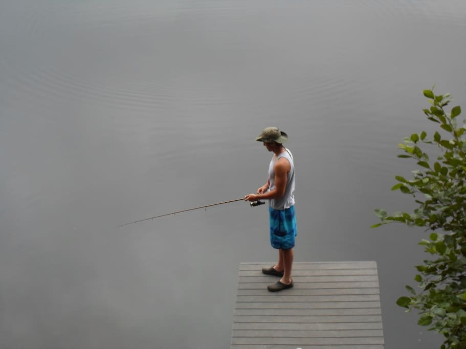 Fish, swim or canoe from our private dock