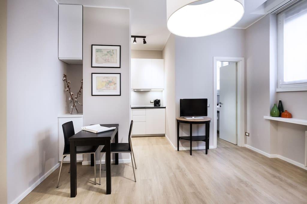 downtown navigli studio apartments zur miete in mailand lombardia italien. Black Bedroom Furniture Sets. Home Design Ideas