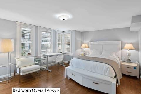 #3Nob Hill penthouse Q bed and jack/Jill Bathroom