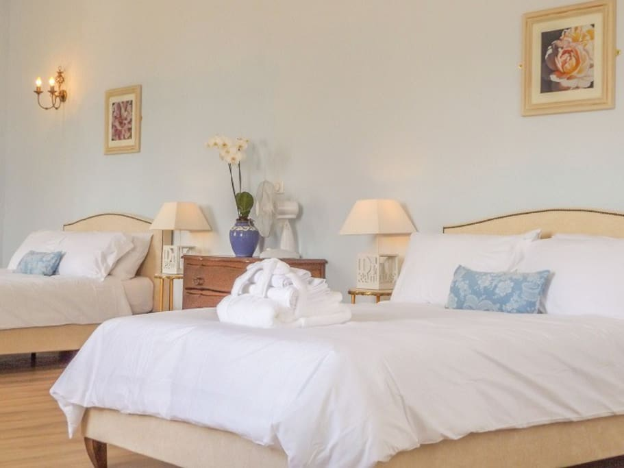 2 Double beds in the adjoining room