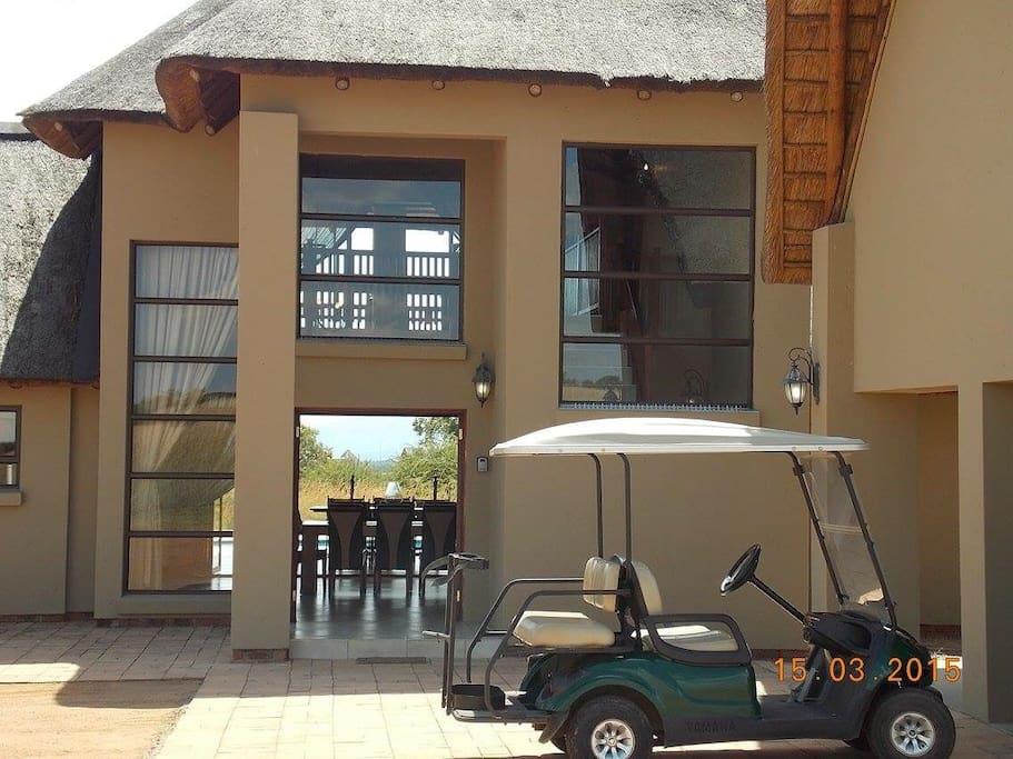 Lodge Entrance with own Golf Cart