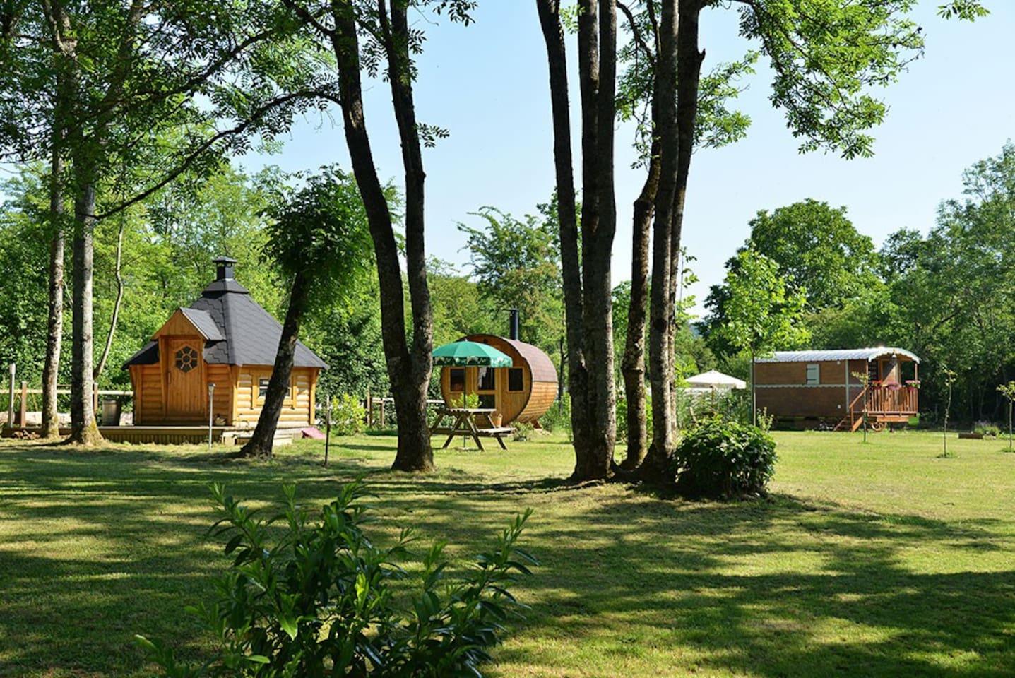mise en valeur du site grill sauna roulotte