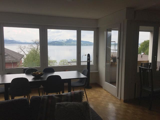 Cosy flat in central Zug with view