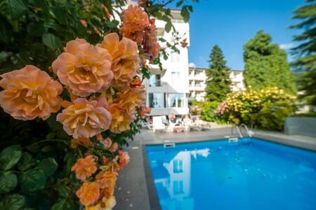 Ohrid Lake Comfortable Room with Balcony-Poolside