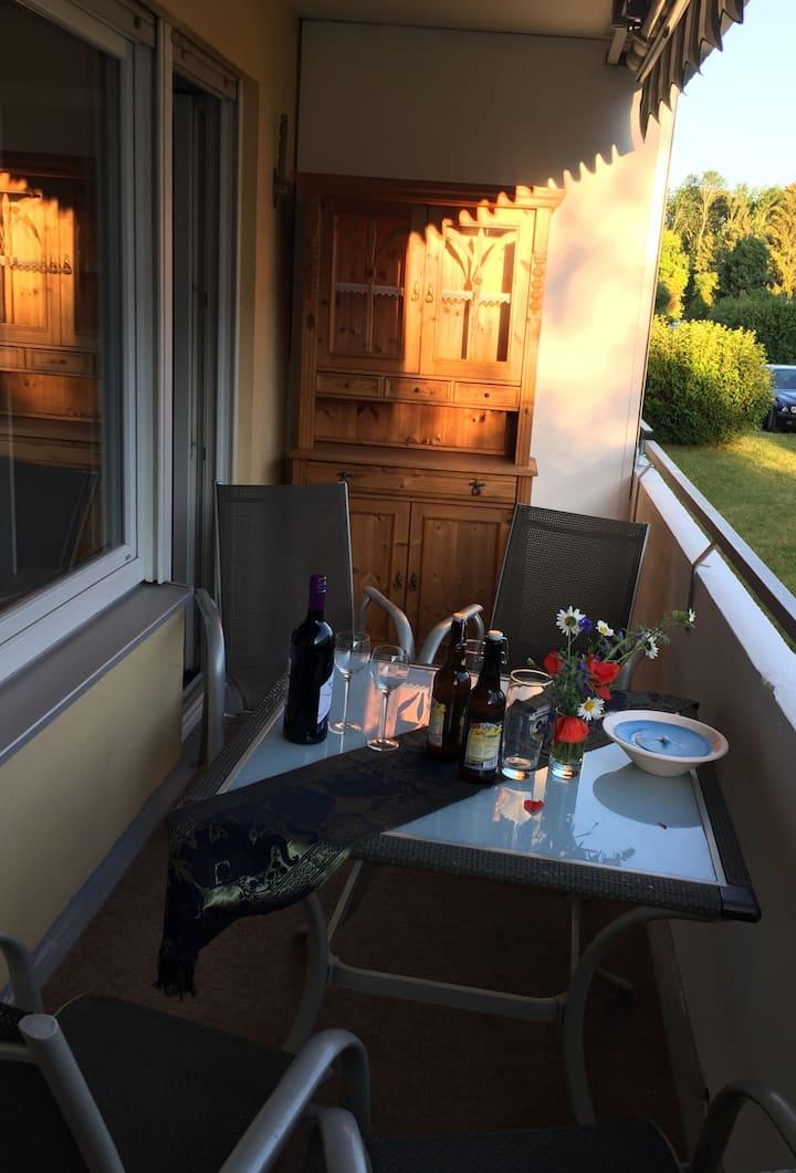 Erholung in schöner Zweizimmerwohnung mit Balkon