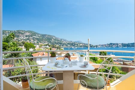 Charming flat, balcony, sea view - Villefranche-sur-Mer