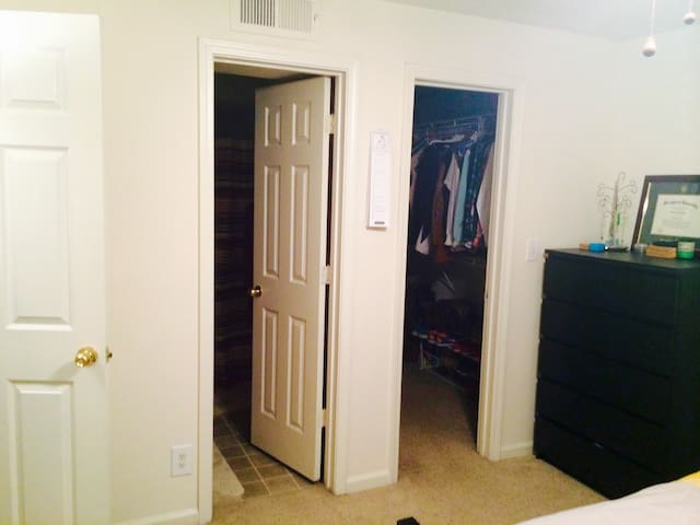 Master Bedroom walk-in closet and master bathroom-(actual room) Will not be furnished