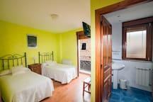 Habitac. individual cama matrimonio